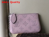 Louis Vuitton Key Pouch in Pink Mahina Leather Replica