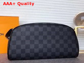 Louis Vuitton King Size Toiletry Bag Damier Graphite Canvas Replica