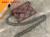 Louis Vuitton Kirigami Necklace Damier LV Pop Pink N60278 Replica