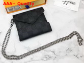 Louis Vuitton Kirigami Necklace in Damier Graphite Canvas Replica