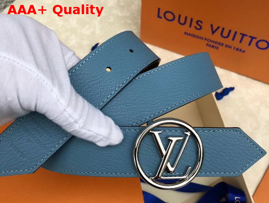 Louis Vuitton LV Circle 35mm Reversible Belt Blue M0142U Replica