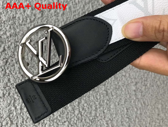 Louis Vuitton LV Circle 40mm Belt White Monogram Canvas and Webbed Lining M0117S Replica
