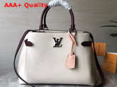 Louis Vuitton Lockme Day Tote Bag Rose Silk Quartz Calla Grained Calf Leather M53647 Replica