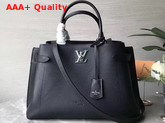 Louis Vuitton Lockme Day Tote Bag in Black Grained Calf Leather M53730 Replica