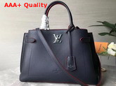 Louis Vuitton Lockme Day Tote Bag in Navy and Red Grained Calf Leather M53645 Replica M53645