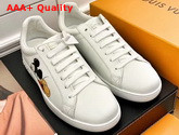 Louis Vuitton Luxembourg Sneaker in White Calf Leather Printed with Mickey Mouse Replica