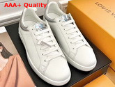 Louis Vuitton Luxembourg Sneaker in White Calf Leather with Iridesent Leather Trim Replica