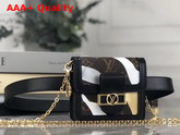 Louis Vuitton Lvxlol Bumbag Dauphine BB Gold and Silver Camouflage Pattern M69086 Replica