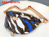 Louis Vuitton Lvxlol Bumbag Monogram Canvas Patterned with an Exclusive Blue and Silver Motif M45106 Replica