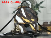 Louis Vuitton Lvxlol Palm Springs Mini Backpack in Monogram Canvas with Gold and Silver Camouflage Pattern M45143 Replica