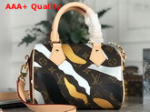 Louis Vuitton Lvxlol Speedy BB Monogram Canvas with Gold and Silver Camouflage Print M45202 Replica