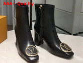 Louis Vuitton Madeleine Ankle Boot in Black Calf Leather 1A5BPA Replica
