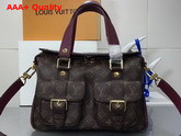 Louis Vuitton Manhattan Monogram Coated Canvas Raisin Cowhide Leather Trim M43482 Replica