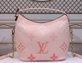 Louis Vuitton Marshmallow Hobo Bag Bouton de Rose Monogram Empreinte Leather with an Oversized and Gradient Monogram Pattern M45697 Replica