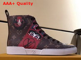 Louis Vuitton Match Up Trainer Boot Monogran Coated Canvas with Printed Patches Replica