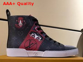 Louis Vuitton Match Up Trainer Boot Monogran Eclipse Canvas with Printed Patches Replica