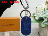 Louis Vuitton Military Tab Charm and Key Holder Blue M67779 Replica