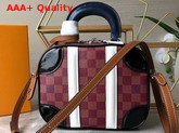 Louis Vuitton Mini Luggage Damier Burgundy Canvas Replica
