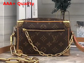 Louis Vuitton Mini Soft Trunk in Monogram Canvas with Brown Cowhide Leather Trim Replica