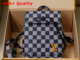 Louis Vuitton Mini Steamer White and Black Damier Canvas Replica