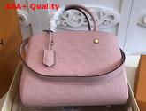 Louis Vuitton Montaigne MM Rose Poudre Monogram Empreinte Leather Replica
