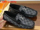 Louis Vuitton Monte Carlo Loafer Damier Graphite Canvas Replica