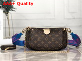 Louis Vuitton Multi Pochette Accessoires Digital Elclusive Prelaunch Blue Replica