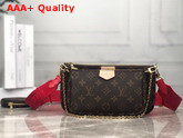 Louis Vuitton Multi Pochette Accessoires Digital Elclusive Prelaunch Red Replica