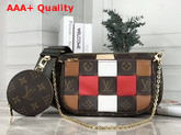 Louis Vuitton Multi Pochette Accessoires in Monogram Canvas Woven with Smooth Colored Leather Replica