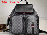 Louis Vuitton Multi Pocket Backpack in Damier Graphite Canvas Replica
