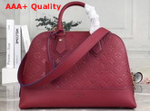 Louis Vuitton Neo Alma PM Handbag in Cherry Berry Monogram Empreinte Leather Replica
