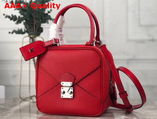 Louis Vuitton Neo Square Bag in Red Taurillon Leather M55475 Replica