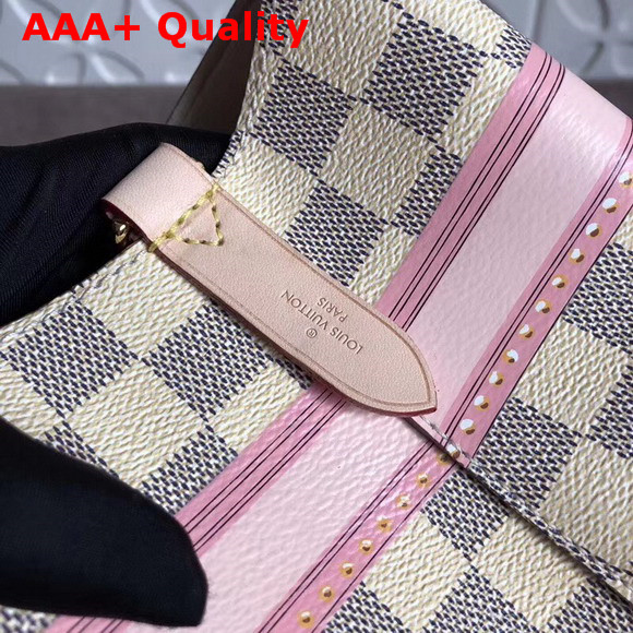 Louis Vuitton Neonoe Damier Azur Printed Damier Azur Coated Canvas with Calf Leather Trim N41066 Replica