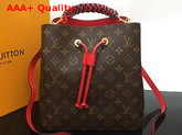 Louis Vuitton Neonoe Monogram Coated Canvas with Coquelicot Red Smooth Cowhide Leather Trim M43985 Replica