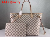 Louis Vuitton Neverfull MM Damier Azur Canvas Replica N41361