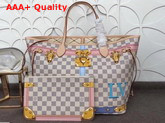 Louis Vuitton Neverfull MM Printed Damier Azur Canvas Replica N41065