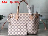 Louis Vuitton Neverfull PM Damier Azur Canvas with Pink Interior Replica