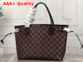 Louis Vuitton Neverfull PM Damier Ebene Canvas with Cherry Interior Replica