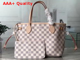 Louis Vuitton Neverfull PM in Damier Azur Canvas with Beige Interior Replica