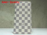 Louis Vuitton New Brazza Wallet Damier Azur Canvas Replica