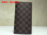 Louis Vuitton New Brazza Wallet Damier Ebene Canvas Replica