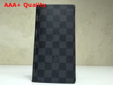 Louis Vuitton New Brazza Wallet Damier Graphite Canvas Replica
