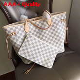 Louis Vuitton New Neverfull MM Damier Azur Canvas Replica
