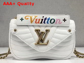 Louis Vuitton New Wave Chain Bag MM White Smooth Calf Leather Replica