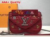 Louis Vuitton New Wave Chain Bag PM in Red with LV Love Lock Story M53213 Replica