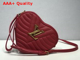 Louis Vuitton New Wave Heart Bag Scarlet Red Quilted Calf Leather M52794 Replica