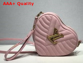 Louis Vuitton New Wave Heart Bag in Rose Pomettes Pink Smooth Calf Leather M53205 Replica