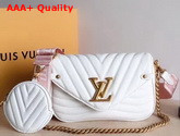Louis Vuitton New Wave Multi Pochette Accessoires White Smooth Calf Leather Replica
