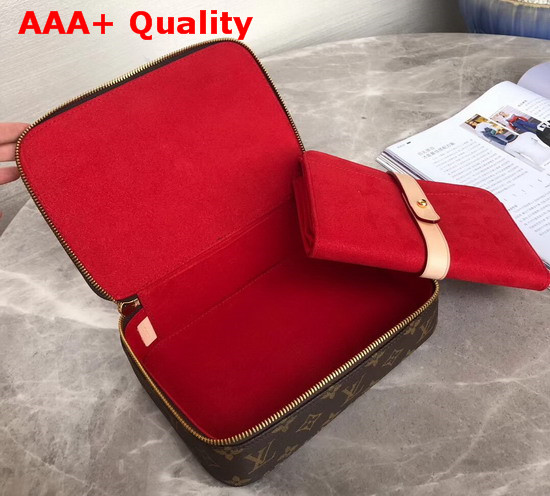 Louis Vuitton Nice Jewelry Case in Monogram Coated Canvas with Red Microfiber Lining M43449 Replica M43449