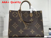 Louis Vuitton Onthego GM Monogram and Monogram Reverse Coated Canvas M44576 Replica